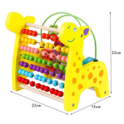 hljgift giraffe circle bead number math shape colour recognition wooden toys calculator shelf for kids toddler