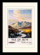"""National Railway Museum """"Isle of Skye (1)"""" Mounted and Framed Print, Multi-Colour, 30 x 40 cm"""