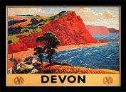 "National Railway Museum ""Devon (1)"" Framed Print, Multi-Colour, 30 x 40 cm"
