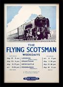 "National Railway Museum ""The Flying Scotsman (2)"" Framed Print, Multi-Colour, 30 x 40 cm"