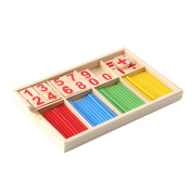 1PC Intelligence Great Toys Montessori Math Wooden Material Colour Calculation Early Education Enlightenment Toy