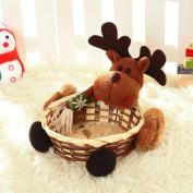 Clearance/ Bluestercool Christmas Candy Storage Basket Decoration, Santa Claus Storage Gift Basket Desk Ornament
