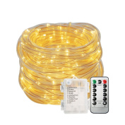 Battery Operated String Lights - SOLMORE 33ft/10M 100 LEDs Fairy Lights Firefly Lights Starry Lights 8 Modes Dimmable with Remote Waterproof for Party Wedding Dance Decor Warm White