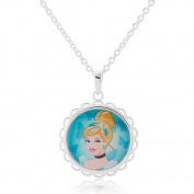 Disney Cinderella Silver-Tone Round Pendant
