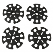 MagiDeal 4pcs Replacement Rubber Snow Basket Snowflake Disc for Hiking Trekking Poles - Black