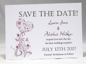 Invitations by Shell Windsor Save the Date Cards Vintage Heart