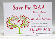 """Invitations by Shell Windsor Save the Date Cards """"Tree"""""""