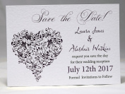 Invitations by Shell Windsor Save the Date Cards -Isabelle Heart