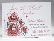 Invitations by Shell Windsor Save the Date Cards -Flowers