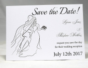 Invitations by Shell Windsor Save the Date Cards - Bride and Groom