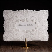 VStoy 2016 Newest Laser Cut Embossing White Wedding Invitations Cards Greeting Cards Baby or Bridal Shower Invites