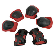Unique Bargains Wheeled Sports Joint Protection Support Set Wrist Guard Elbow Pads Knee Pads For Kids