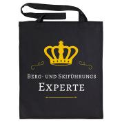 Mountain And Ski Expert Black Cotton Bag