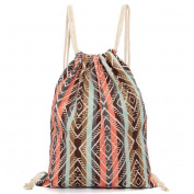 Unisex Retro Backpacks Fcostume Printing Bags Drawstring Backpack