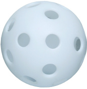 White 30cm Perforated Poly Ball