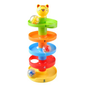 Drop and Roll Swirl Ball Ramp Toy for Babies Infant