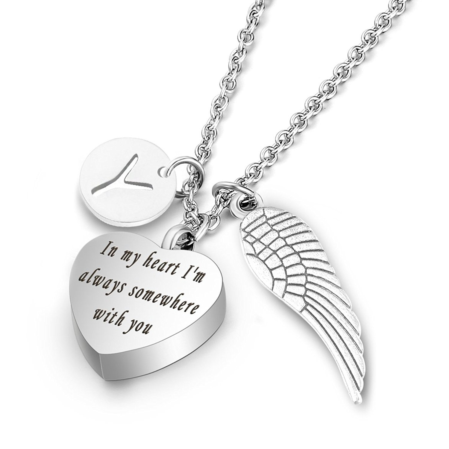 dp heart charmsstory ashes necklaces memorial angel you holder pendant urn amazon cremation xaqhl necklace com wings miss jewelry keepsake