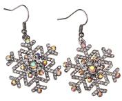 Loveangel Jewellery Snowflake Dangle Earrings Christmas Christmas Thanksgiving Gifts for Women