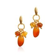 Goldmajor Women 925 Sterling Silver Amber Dangle and Drop Earrings ER1343
