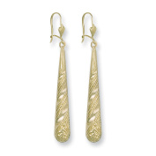 Yellow Gold Long Patterned Drops