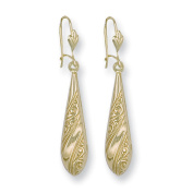 Yellow Gold Patterned Drops