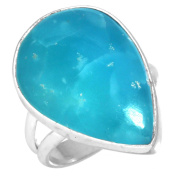 Natural Smithsonite Gemstone Ring Solid 925 Sterling Silver Modern Jewellery Size L