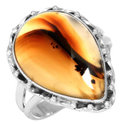 Natural Montana Agate Gemstone Ring Solid 925 Sterling Silver Latest Jewellery Size R