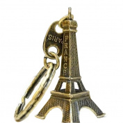 Bobury Eiffel Tower Model Keychain Retro Paris Keyring Metal Split Key Ring Tower Keychain