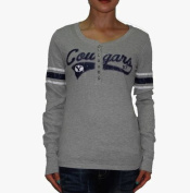 NCAA Womens Brigham Young Cougars Athletic pullover long-sleeved T-shirt - Grey (Size
