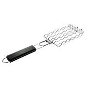 Pink Rose Dream Multifiction Stainless Steel BBQ Sausage Grilling Basket Meat Grilled Folder Clip BBQ Wire Mesh for Hot Dogs