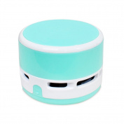 Zantec Mini Cartoon Dust Vacuum Cleaner Portable Home Office Corner Desk Table Vehicle-Mounted Sweeper blue
