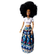 """DAYLIN 11.5*32cm/4.5*12.6"""" Baby Movable Joint African Doll Toy Black Doll Best Gift Toy"""