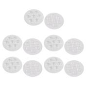sourcingmap 10Pcs 69mm Dia.Transparent Round 7LEDs Spotlight Lamp Cover for Car Motorcycle Lights