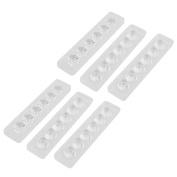 sourcingmap 6Pcs Single Row 6W Rectangular LED Spotlight Optical Lens for LED Light Bar