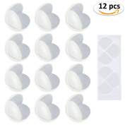 Philonext 12 Pack Corner Protector Baby Proof Safety Clear Corner Guards Baby Proofing Adhesive Cover Corner Bumpers for Furniture Cabinets and Sharp Edges