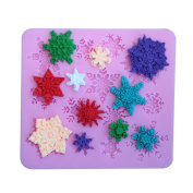 timeracing DIY Baking Tool Cute Snowflake Shape Cake Mould Fondant Soap Sugar Craft Decor Silicone Mould