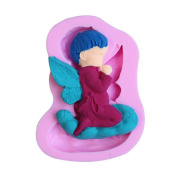 timeracing DIY Cute Angel Shaped Baking Tool Silicone Mould Fondant Cake Chocolate Mould
