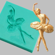 timeracing Ballet Girl Baking Tool Silicone Cake Mould Fondant Cake Chocolate Cookie Decorating Mould Tool - Random Colour