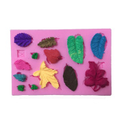 Good01 DIY Silicone Mould Plant Leaves Shape Chocolate Cake Fondant Cookie Soap Mould