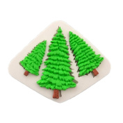 Good01 3D Silicone Cake Fondant Mould Three Christmas Trees Shape DIY Baking Mould