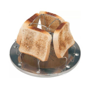 Espeedy 4 Slice Foldable Stove Bread Toaster Stainless Steel Cookware for Caravan Hiking Camping