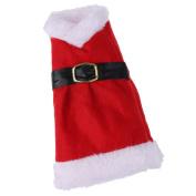 Blesiya Cute Merry Christmas Dress Wine Bottle Holder Cover Gift Bag Present Holiday Table Xmas Home Decor