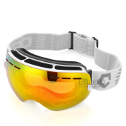 New Skiing Goggles Double Lens Anti-UV Anti-Fog Skating Goggles Snowboard Skate Eyewear Sports Protective Safety Glasses For Women Men Ladies Youth