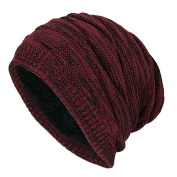 WETOO Stretch Slouchy Beanie Hat Winter Warm Hats Long Knit Skull Cap For Men