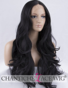 Chantiche Christmas Long Lace Front Wig Natural Black Synthetic Wavy Wig UK #1B Heat Resistant Hair Wigs for Women 60cm