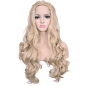 Deifor Long Curly Wave Synthetic Hair with Braids for Daenerys Targaryen Costume Cosplay Wigs