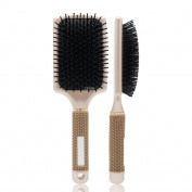 Professional Golden Nylon Air Cushion Massage Rubber Detangling Anti-static Hairbrush Curly Styling Comb