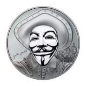 Guy Fawkes Mask II $5 30ml Silver Coin - Cook Islands 2017
