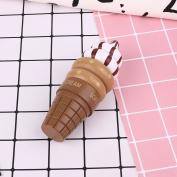 Kicode Cute Wooden Magnet Simulation Food Ice Cream Cone Model Kitchen Toy Preschool Kid Gifts Decoration