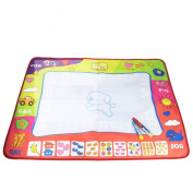 ZZM Children's Toy Watercolour Canvas Graffiti Pad With 2 Pens, Four-Colour Doodle Mat